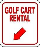 IUBBKI Cartel de metal con 8 flechas de metal de aluminio vintage con letreros de metal de alquiler para carrito de golf, decoración versátil de 20,3 x 30,5 cm