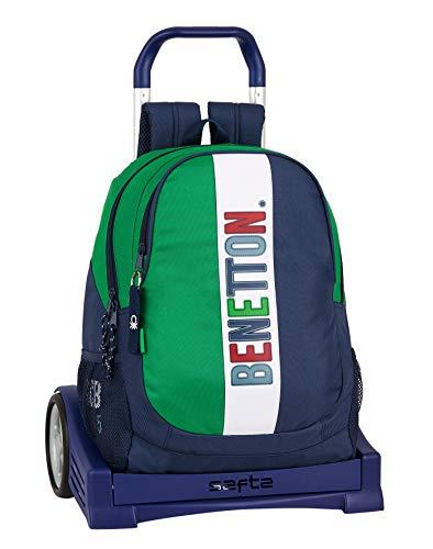 Mochila Safta Espalda Ergonómica con Carro Safta Evolution de Benetton, Multicolor