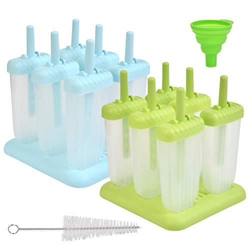 """""""N/A"""" Eisformen 4 Eisformen Popsicle Formen Set, EIS am Stiel Bereiter, mit Reinigungsbürste und Falttrichter"""
