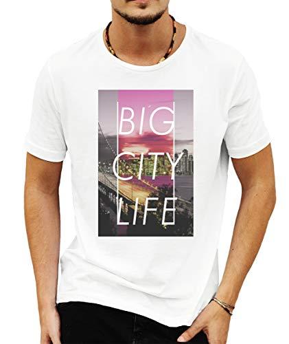 Wild Soul Tees San Francisco Big City Estados Unidos de América California - Camiseta para Hombre Blanco Blanco XXL