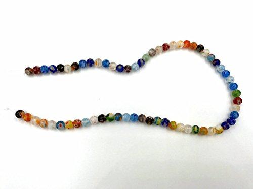 Ecloud Shop Hilo Cuenta Abalorio Cristal de Murano Multicolor 6mm