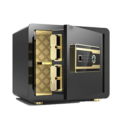 Coffre-fort d'affaires Alarme renforcée Table de Chevet Accueil Mot de Passe Tous Les dépôts en Acier Box Partition LITING (Color : Black)
