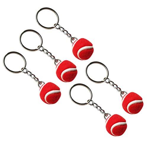 NUOBESTY Portachiavi Tennis Portachiavi Palla Portachiavi Velluto Mini Portachiavi Ciondolo per Cellulare E Decorazione Borsa/Rosso