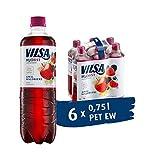 VILSA H2Obst Apfel-Waldbeere, 6er Pack leichte Schorle mit 20 % Fruchtsaft, kalorienarm, ohne Zuckerzusatz, in Einwegflaschen (6 x 0,75 l PET)