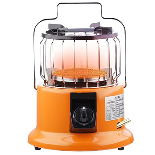 BKWJ Multifunctional Gas Heater Infrared Heater, Protable Outdoor Cooking Stove, Table Top Propane Heater for Camping/Patio/Garden,Yellow,Natural Gas