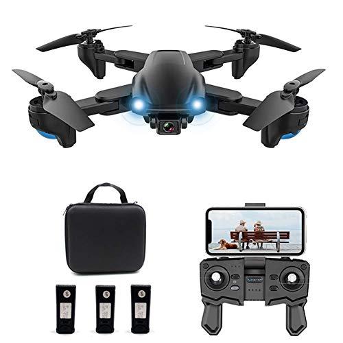 Dron GPS con cámara 4K HD para adultos, Dron plegable con video en vivo WiFi 200M, Regreso a casa con GPS, Sígueme, Quadcopter con cámara gran angular ajustable, Dron Quadcopter para principiantes