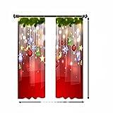 2 uds, Cortinas navideñas con impresión Digital, Cortina de...