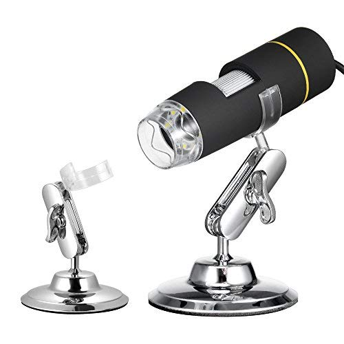 USB Microscope, KKmoon 1000X Magnification USB Digital Microscope with OTG Function Endoscope 8-LED Light Magnifying Glass Magnifier with Stand