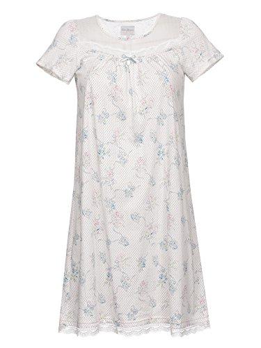 Vive Maria Retro Flower Nachthemd Weiß Allover, Größe:S