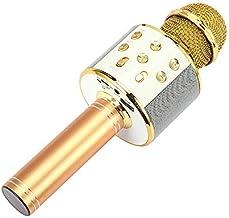 Micrófono inalámbrico Karaoke, reproductor de altavoces Bluetooth portátil, micrófono de mano para iPhone Android, entrevistas de grabación cantante y fiesta KTV para niños