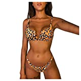 Trajes De BañO para NiñAs Trajes De BañO Tankini para Mujer Trajes De BañO Pareos Playa Mujer Bikinis Calzedonia Brown-2 L