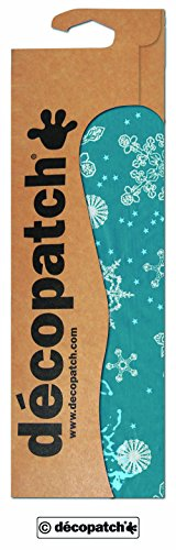 Decopatch papier nr. 521 (blauwe sneeuwvlokken wit, 395 x 298 mm) 3-pack