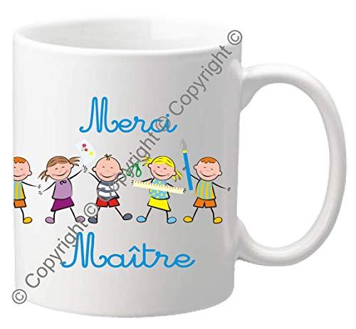 Mug Merci MAITRE - Le Cadeau Original de Fin d'Année Scolaire. L'école est finie ! Vive les Vacances !