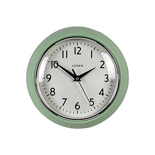 JONES CLOCKS Reloj de Pared Retro Cocina, el Dormitorio, la Oficina, el Reloj de Ketchup de 25 cm.Reloj de Pared Retro Cocina, el Dormitorio, la Oficina, el Reloj de Ketchup de 25 cm.