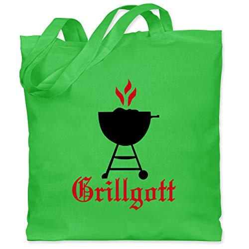 Shirtracer Grill - Grillgott - Unisize - Hellgrün - Koch - WM101 - Stoffbeutel aus Baumwolle Jutebeutel lange Henkel
