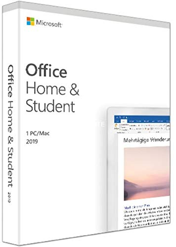 Microsoft Office 2019 Home & Student | PC - MAC | Authentique | Envoie par Message