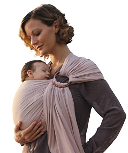Nalakai Luxury Ring Sling Baby Carrier – Extra-Soft Bamboo and Linen Fabric - Lightweight wrap -...