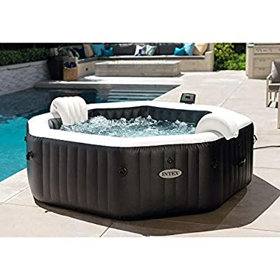 """Intex 86"""" X 28"""" PureSpa Jet and Bubble Deluxe Inflatable Spa Set, 6-Person 28461E"""