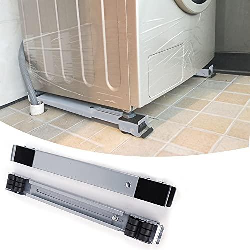 Honeyhouse Waschmaschine Verschiebbar Sockel mit Schwenkräder, Einstellbar mobiler Kühlschrank Basis Möbel, Sockel mit 24 Räder für den...