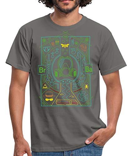 Spreadshirt Breaking Bad Collage T-Shirt Homme, XL, Gris Graphite