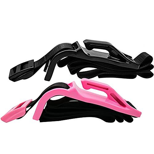 Embarazo Cinturón de seguridad Ajustador Automóviles Cinturón de seguridad Extensor Evite la compresión de maternidad del abdomen Proteger al bebé por nacer antes de la comodidad,Pink +black 2pcs