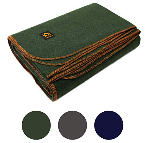 Arcturus Military Wool Blanket - 4.5 lbs, Warm, Thick,...