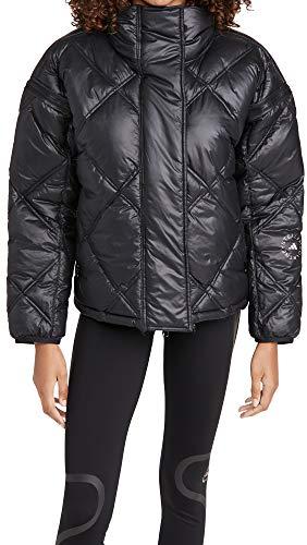 adidas by Stella McCartney Women's Short Puffer Jacket, Black, Medium