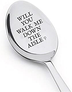 Will You Walk Me Down the Aisle? - Engraved Unique Gift - Maid Of Honor Gift - Gifts For Him - Easter gifts - best selling item - spoon gift