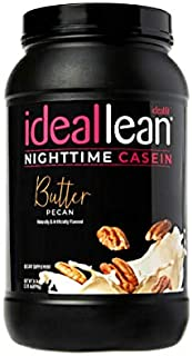 IdealLean Casein for Women - 24g Protein, L-Theanine, 30 Servings, 110 Calories … (Butter Pecan, 30 Servings)