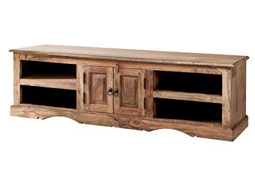 MASSIVMOEBEL24.DE Massiv Holz Kolonialart Möbel Sheesham geölt TV-Board Palisander grau Massivmöbel grau LEEDS #48