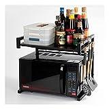 XGJJ Ablagen Einziehbare Küchenschrank Microwave Ofen Rack Ofen Lagergestell Lagergestell Multifunktionsregal Regale