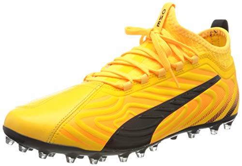 Puma Herren One 20.3 Mg Fußballschuhe, Gelb (Ultra Yellow Black-Orange Alert 01), 43 EU