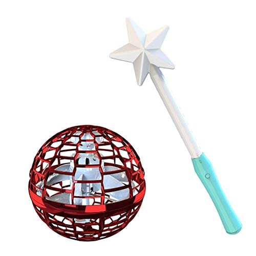 Bumerang-Spinner Flying Toy Drones Hände frei Ball Drohne Hubschrauber für Kinder/Freunde Fliegendes Spielzeug, Kugelform Magischer Controller Mini Drohne Flugspielzeuge Fliegender Spinner (Rot)