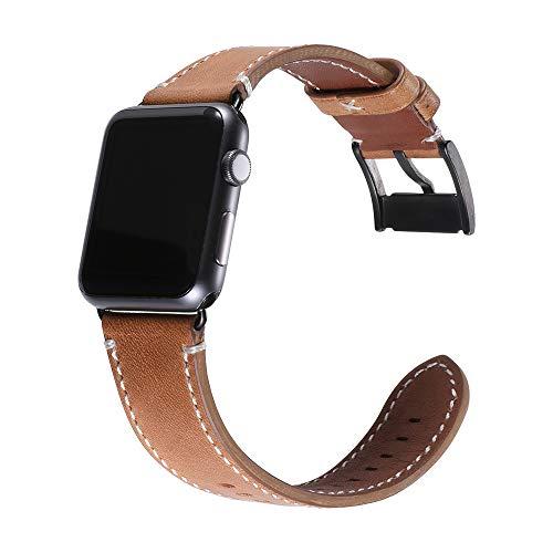 Yierya Leder Watch Armband |Uhrenarmband | Watch Armband Kompatibel für Apple Watch Series 5/4/3/2/1,Uhrenarmbänder für Männer und Frauen 38mm 40mm
