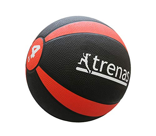 trenas Gummimedizinball PRO - Der professionelle Medizinball - 4 KG
