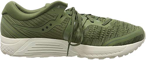 Saucony Men's Guide ISO 2 Running Shoe, Olive Shade, 10.5