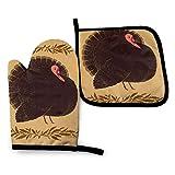 FOREVER ME Manoplas de horno lindos guantes de cocina de patrón lindo guantes de cocina seguros esterillas avanzadas fáciles de lavar caliente Set para 2 hornear, cocinar a la parrilla