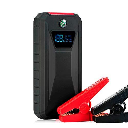 WCLOC Arrancador para Coche, Arrancador PortáTil para Coche 600a Pico 10400mah con Carga RáPida De 2 USB, Amplificador De BateríA De Coche De 12v, Cargador De BateríA