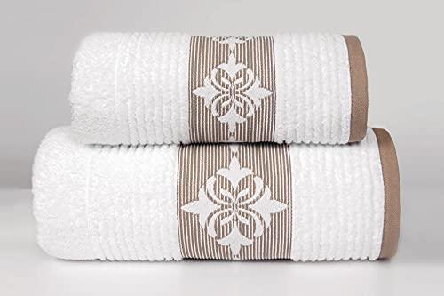 Greno Firenze Weiß Badetuch 70x140 | Duschtuch | Badetuch | Badetücher | Duschhandtuch | Badehandtücher | Duschtücher | Baumwolle | Bath Towel | Handtuch Groß