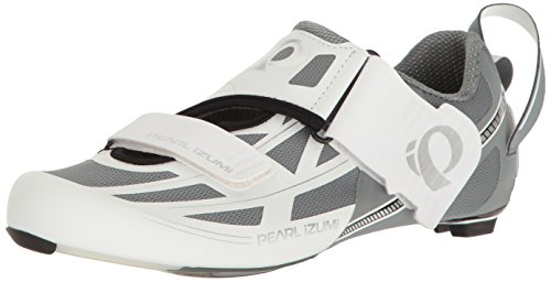 Pearl iZUMi Women's W Tri Fly ELITE V6 Cycling Shoe, White/Silver, 41 EU/9.2 B US