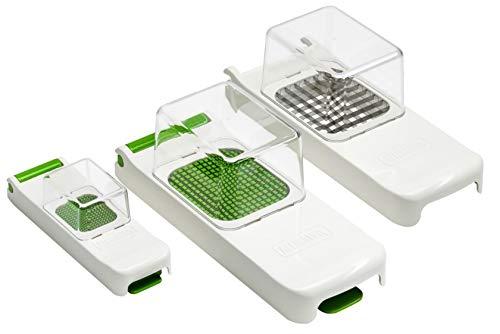 3002G Alligator Schneider Set. Zwiebelschneider, gemüse und obstchneider. 3x3mm, 6x6mm und 12x12 mm