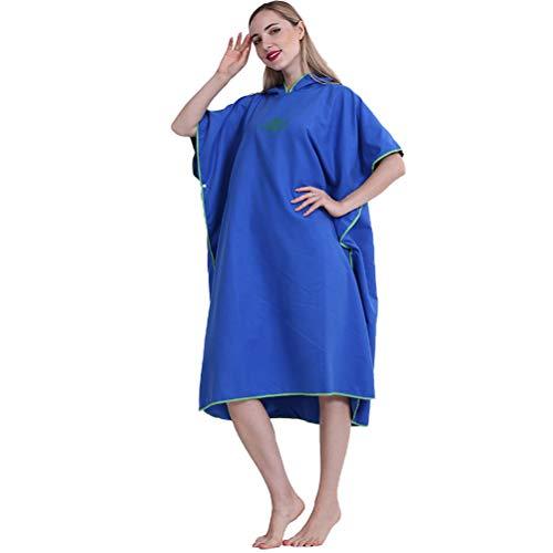 Toalla de baño de secado rápido, toalla de playa de microfibra de secado rápido, unisex, portátil, ligero, con capucha, para surf, natación, playa, para hombres, mujeres y adultos