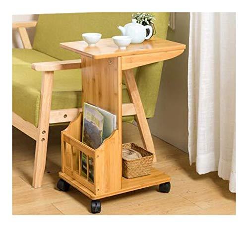JIAHE115 Draagbare tafel kleine koffietafel voor het bureau van de computer Laterale meubels hoekbank kleine tafel bamboe frame salone eenvoudige theetafel bijzettafel