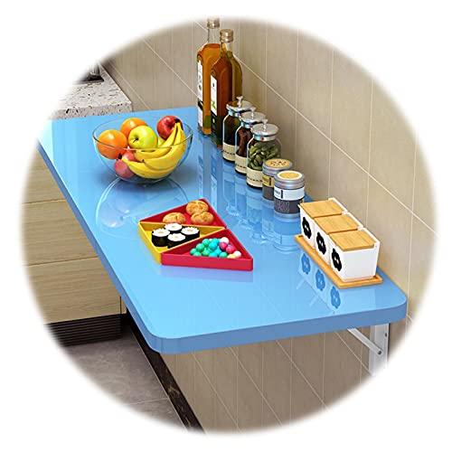ZWYSL Mesa Plegable Pared Tarea Pesada Escritorio Abatible Pared Adición Oficina En Casa/Lavandería/Bar En Casa/Cocina y Comedor (Color : Blue, Size : 50x40cm)