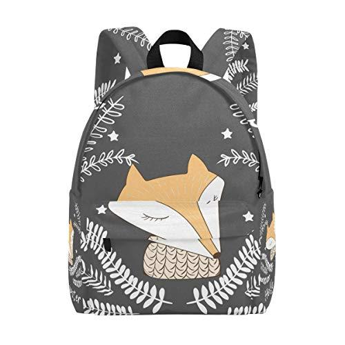 Sac à Dos Mignon Hello Winter Fox Sac à Dos pour Les garçons et Les Filles Outdoor Casual Daypack