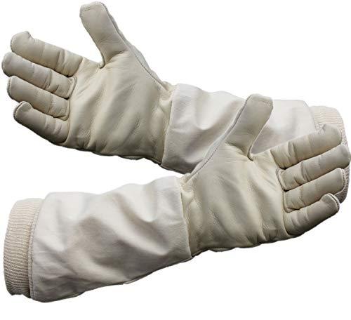 Kräftige, echt Leder Imkerhandschuhe, Bienenhandschuhe, Arbeitshandschuhe für den Imker, CE zertifizierter Imkerschutz - Größenauswahl von 4-13