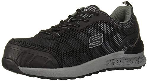 Skechers Women's Bulklin-Lyndale Industrial Shoe, Black/Gray, 8.5 W US