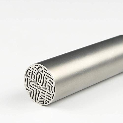 チタン印鑑 チタンはんこ・判子 チタン製 国産 印鑑 作成 印鑑証明 実印16.5mm