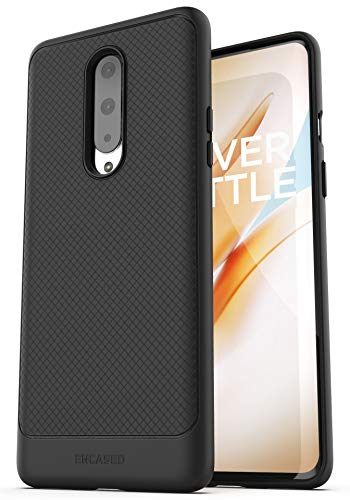 Encased OnePlus 8 Case (Thin Armor) Slim Fit Flexible Grip Cover (Black)
