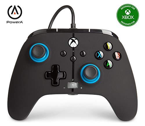 Mando con cable mejorado PowerA para Xbox: en Blue Hint